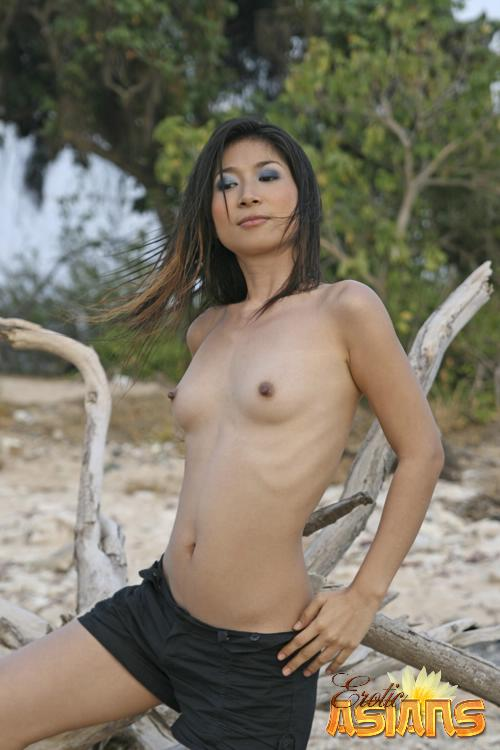 Asian girls nude at the beach #2