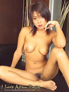Sexy Asian Brunette Girl Is Playing With Her Tits and Drilling Pussy by Dildo