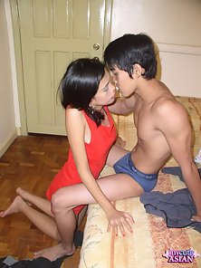 Tight Filipino slut gets shaved cunt banged