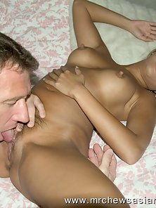 Naughty Asian Blonde Babe Strips Dress and Shows Her Tits with Round Ass in Many Poses
