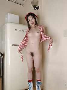 Sexy Rei Amami Takes Off Her Red Dress and Expose Her Nude Body in Here