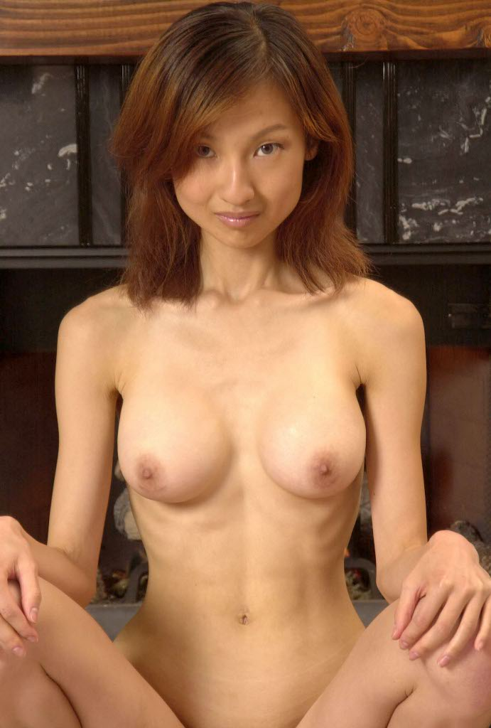 Cute nude skinny bald busty asian