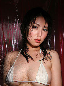 Sensual Hot Young Asian Bikini Wear Babe Wet Her Salty Body in Shower