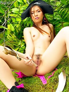 Asian bad girl in costume
