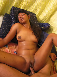 Petite Indian chick pussy rubbed and fucked