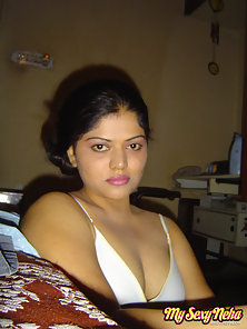 Pretty Indian Chick Neha Shows Off Her Huge Tits in Horny Action