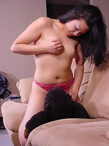 Horny exotic bitch playing with her twat and toys!