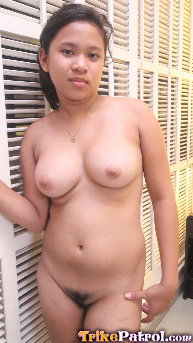 Busty Filipina Teen Showing Her Huge Tits And Hairy Pussy -3266