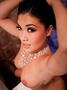 Naked Brunette Babe London Keyes in Jewelers Boob Rubbed and Anal Finger