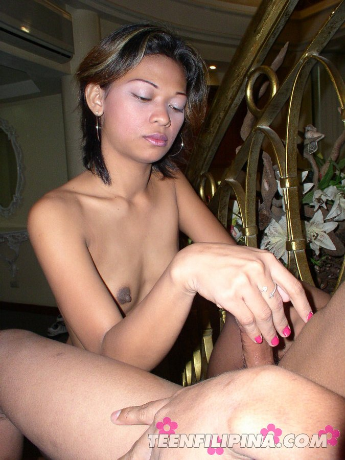 Small Titted Teen Girl Manila Gives Hot Handjob to Huge Cock and ...