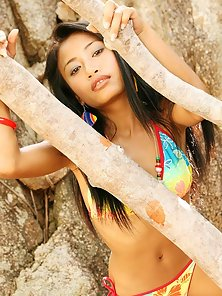 Bikini Wear Sexy Prances Showing Her Horny Poses In Outdoor