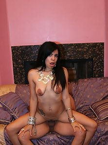 Skinny Brunette Babe Nailed by Hunky Dude in Riding Position