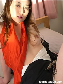 Long Haired Japanese Babe Kotono Gives Naughty Pose to Expose Her