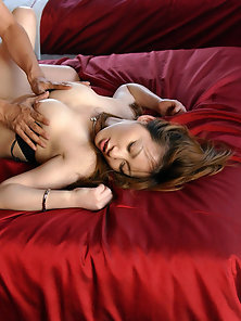 Gorgeous Looking Asian Babe Fucking In Doggy Style by Her Bf on Bed