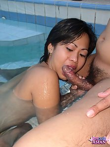 Sexy Brunette Filipino Thinks about the Hardcore Sex with Her Partner