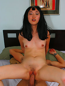 Dark Haired Chinese Beauty Give an Awesome Sex Pleasure to Her Partner