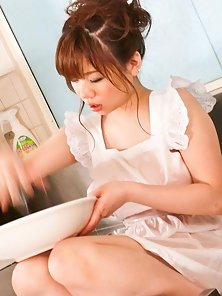 White Dressed Hot Babe Aoi Mizumori Roughly Sex with Her Naughty Friend