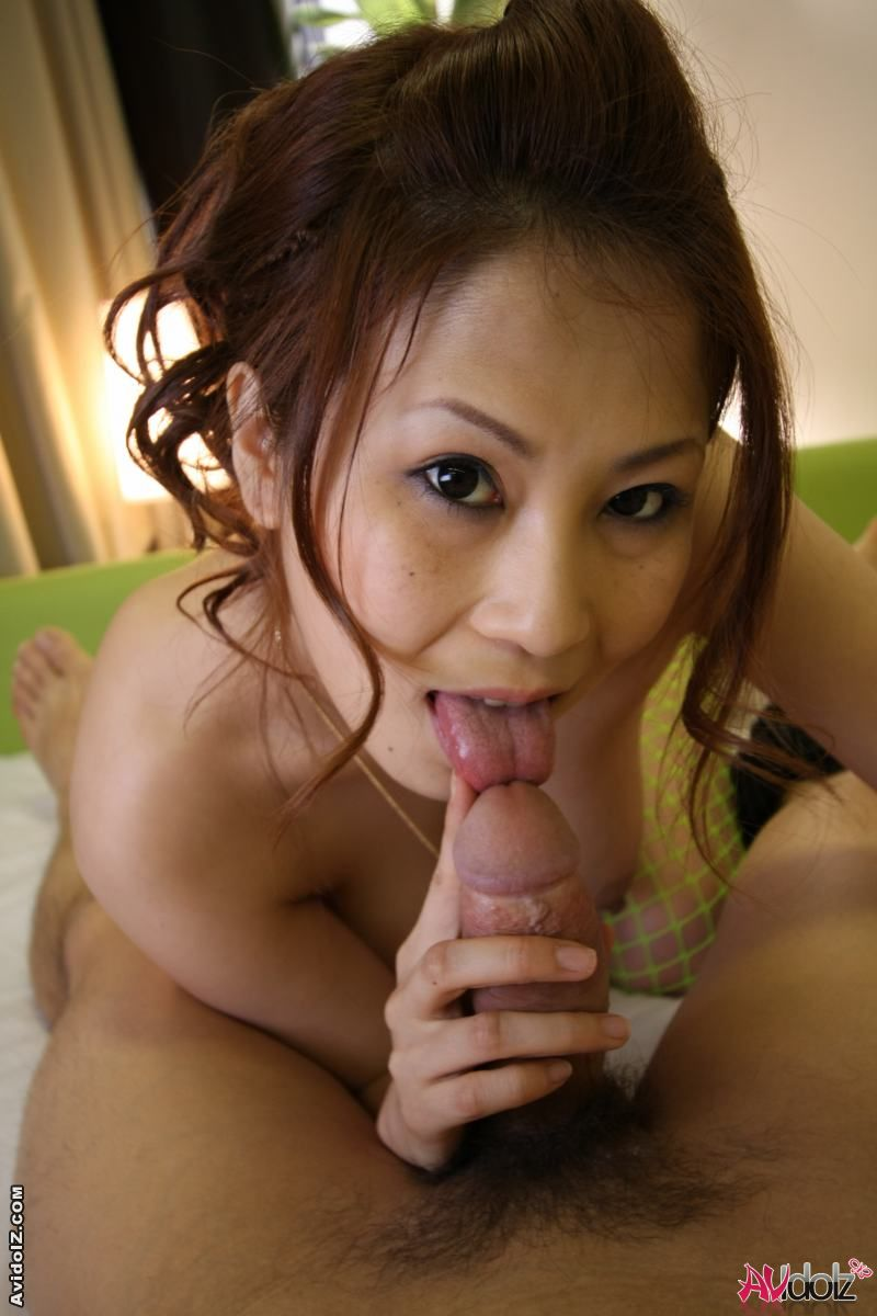 japan av blow job - Cute Japanese Chick Give Nice Blowjob and Tit Job to a Huge Cock