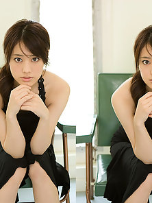 Yellow Dressed Sexy Naughty Chick Saki Fukuda Look So Cute and Attractive
