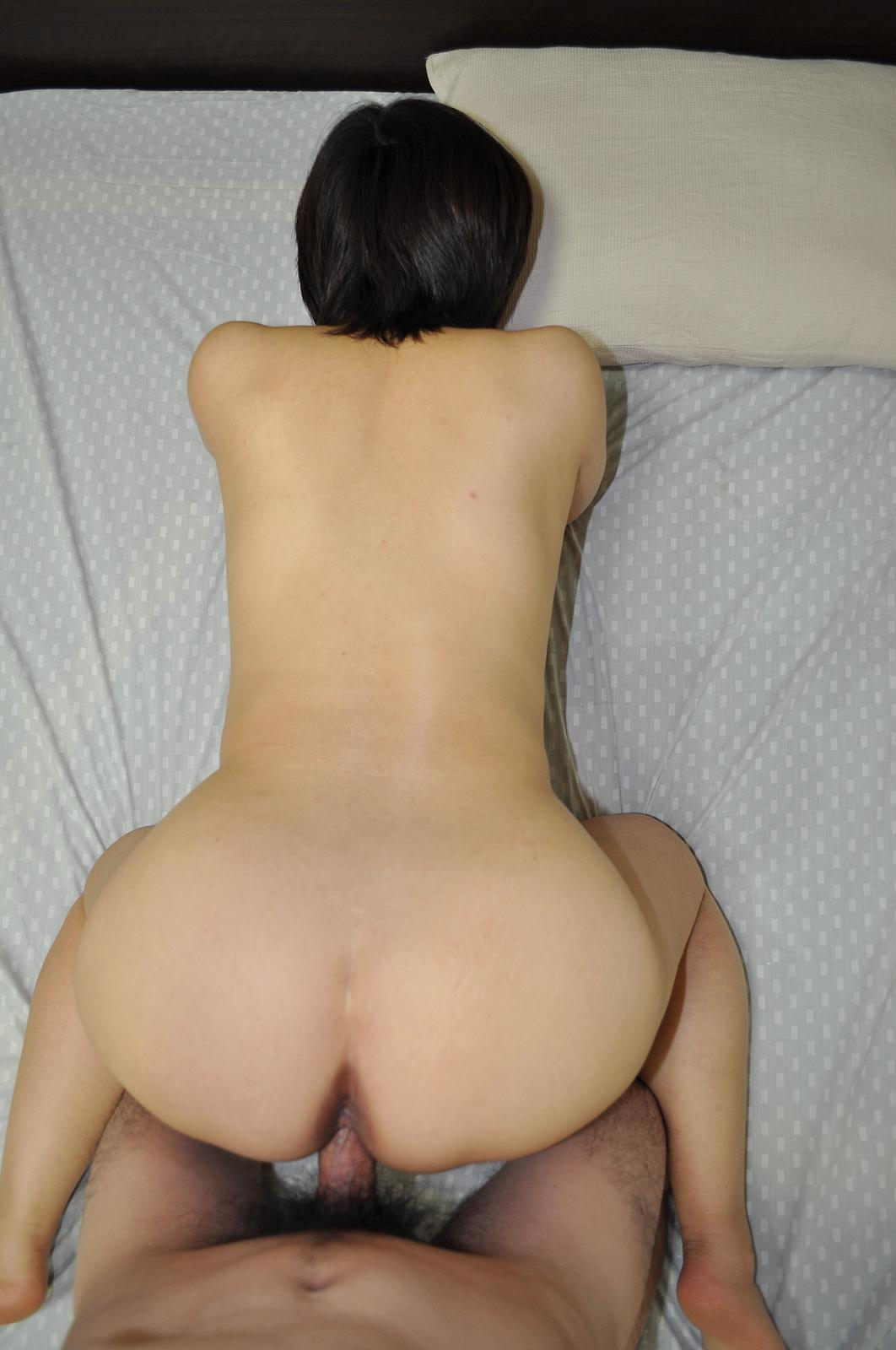 Cute short haired young asian in garter belt sucks and gets fucked doggy style 7