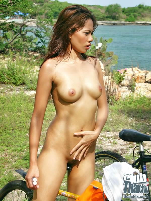 Gorgeous Thai Janice Striping To Nude Bike Riding - Asian -9958