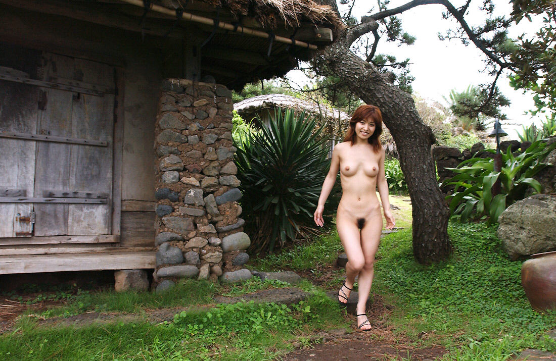 Girl stripping outside nude — 5