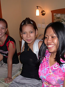 Threesome Filipina Lesbians Licking Their Juicy Wet Twats Crazily