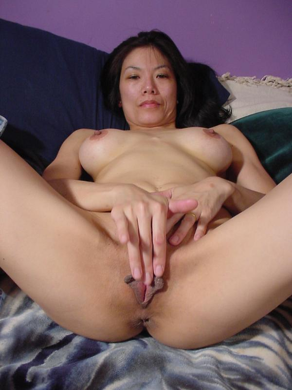Asian milf eating