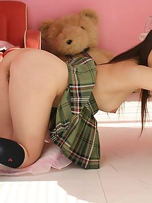 Emiru is an Asian babe who can combine her job with getting fucked if she wants