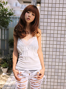 Beautiful Asian Young Babe Present Her Hot Looks on Sofa