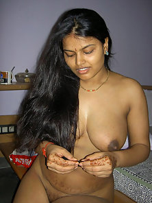 indian wife aprita naked in her bedroom