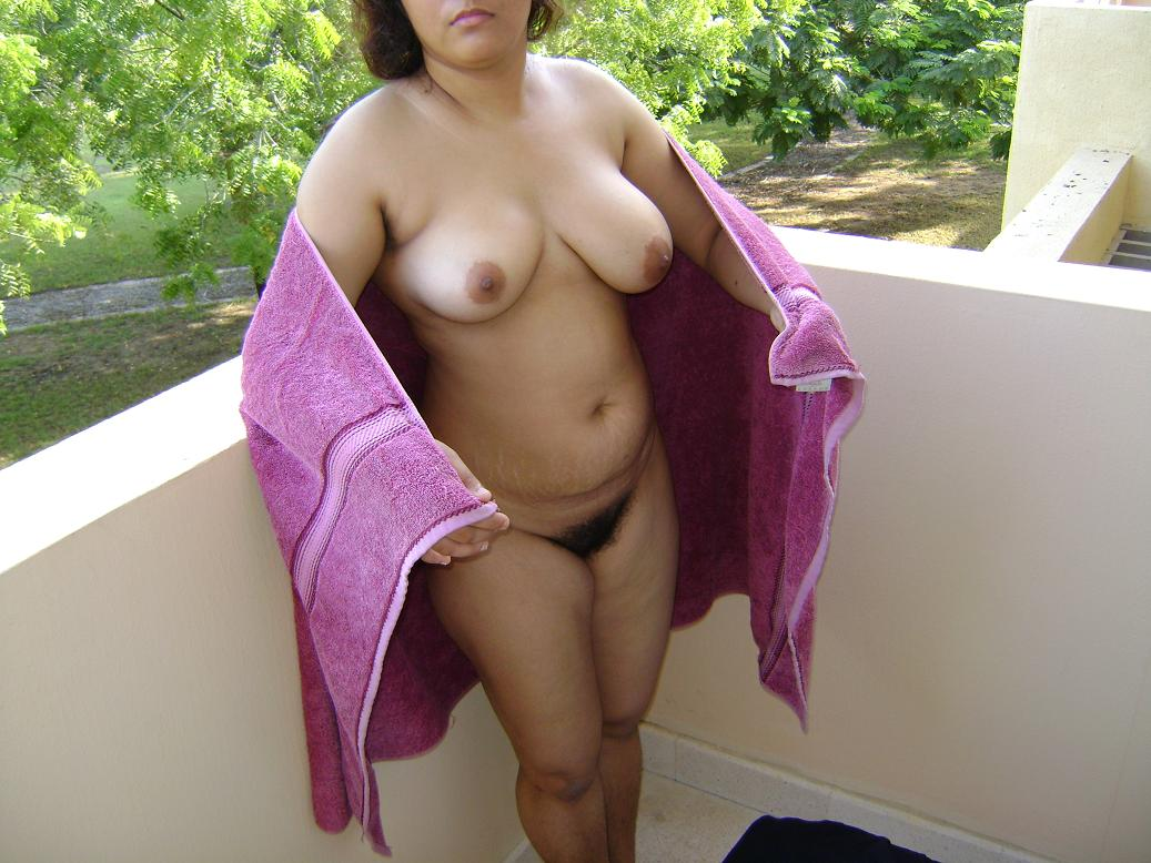 Towel in indian wife