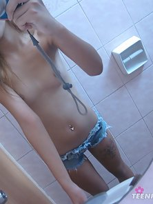 Class Looking Horny Chick Shows Her Bare Body with Camera