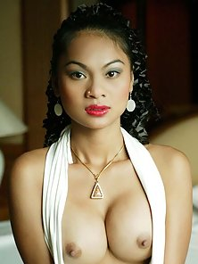 Round Titted Hot Asian Chick Getting Naked and Parlaying With Her Pussy