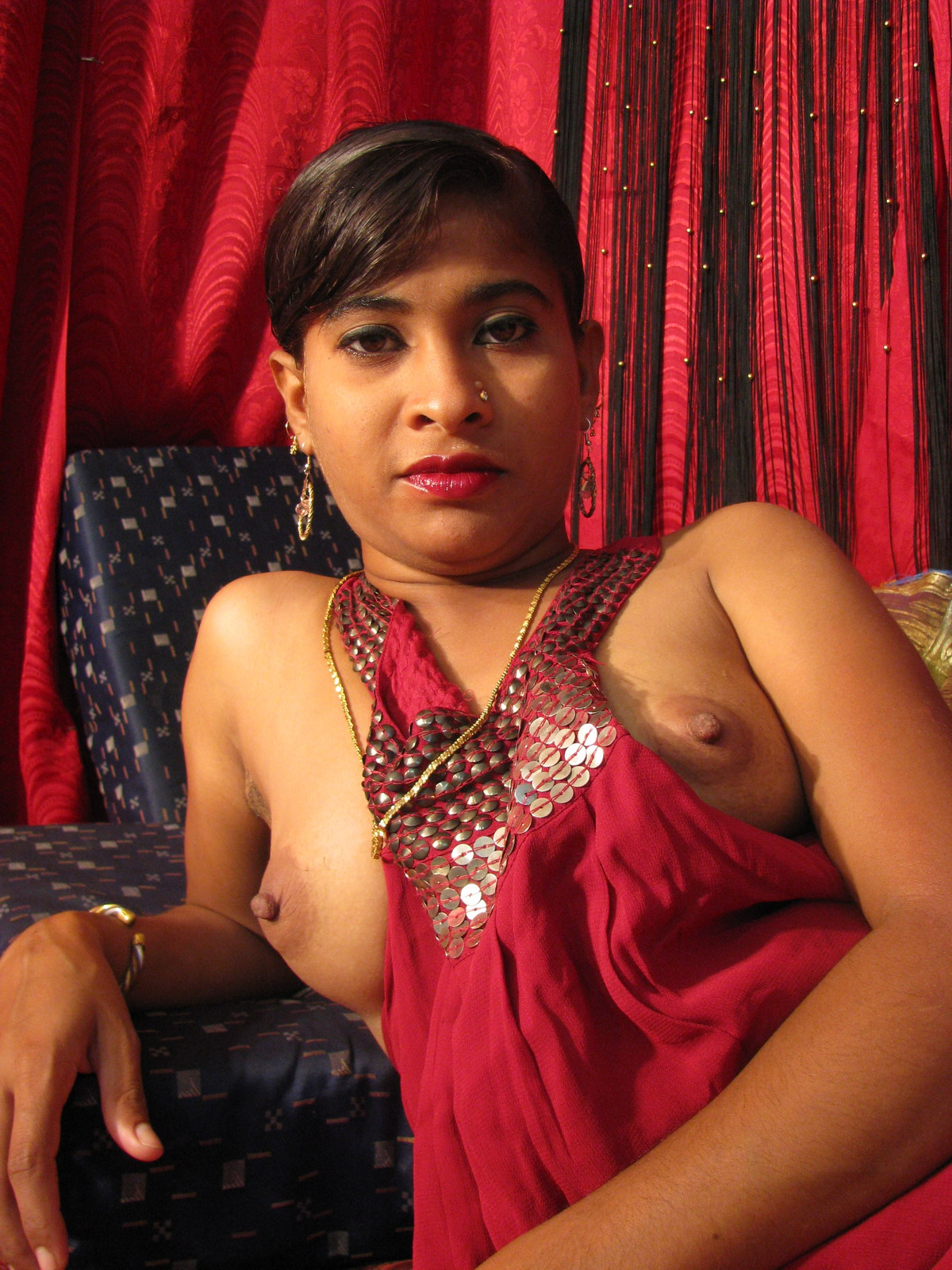 Indian Milf With Small Tits Spreading Pussy - Asian Porn -2974