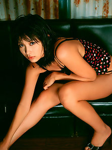 Dirty Bikinied Babe Mami Yamasaki Excitedly Shows Her Nice Boobs and Sexy Legs