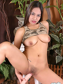 Thai Ing with dildo in her juicy pussy