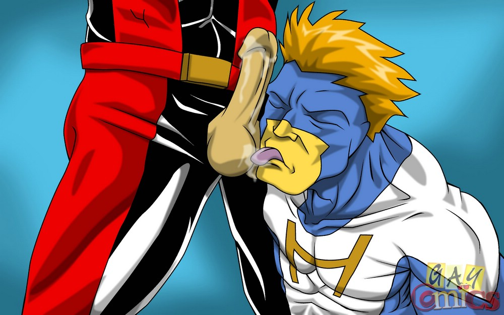 Look These Superhero Anime Gays Displaying Their Horny Poses In Naughty Style - Asian Porn Movies-9401