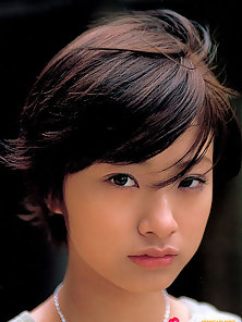 Short Haired Beauty Brunette Chick Aya Ueto Looking So Attractive