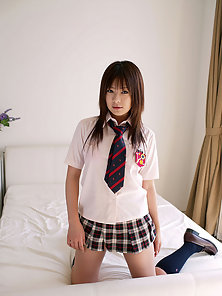 Slutty Sexy Asian School Girl Sexy Poses In Different Style