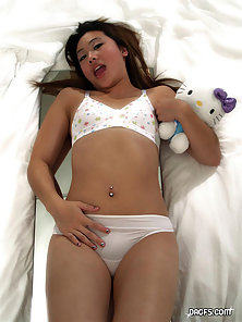 Bikini Wore Asian Babe Lela Exposing Her Hottest Figure With Excited On Bed