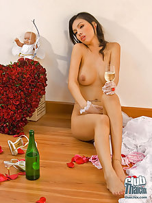 Stunning Brunette Babe Miko Eagerly Waits For Her Partner for Ramming