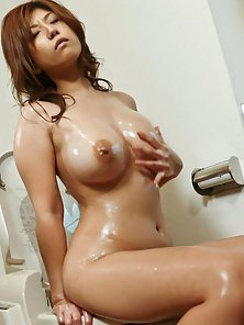 Lovely And Hot Big Titted Young Slut Naho Hadsuki Fingered Her Twat In Bathroom