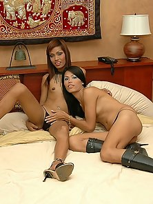 Two Slutty Ladyboy Huge Sucking And Fucking Each Other Tin Huge Excitement