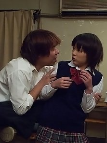 Japanese School Girl Fucking With Two Guys and With Electric