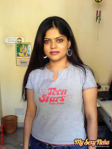 Sweet Sexy Looking Indian Chick Neha Showing Her Big Boobs In Hot Mood