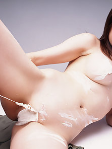 Hottest Asian Babe Takes Sensitive Ice Touch On Boobs
