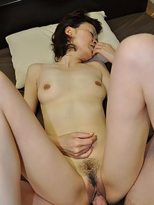 Japanese granny Takako Kumagaya is wanting cocks inside her pussy.