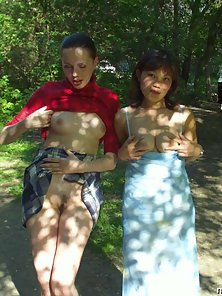Hot Girls Enjoying Nice Lesbian Sex in the Park Tremendously