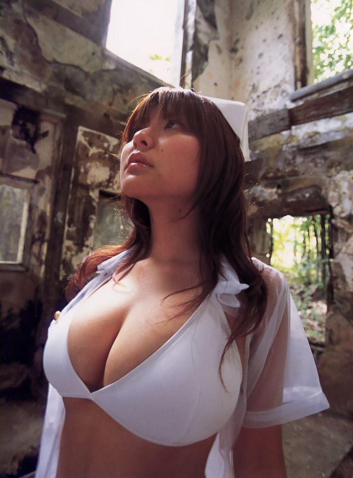 Adorable Sexy Japanese Babe Strips And Shows Tight Tit In Garden